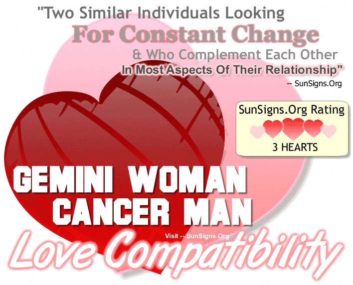 Gemini Woman Cancer Man Love Compatibility
