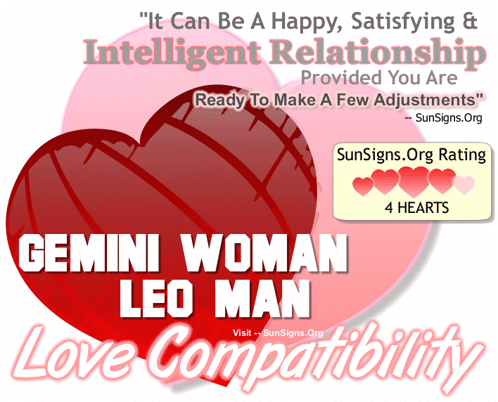 Gemini Woman Leo Man Love Compatibility