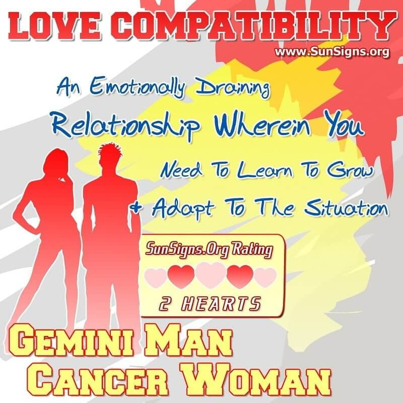 gemini man cancer woman love compatibility