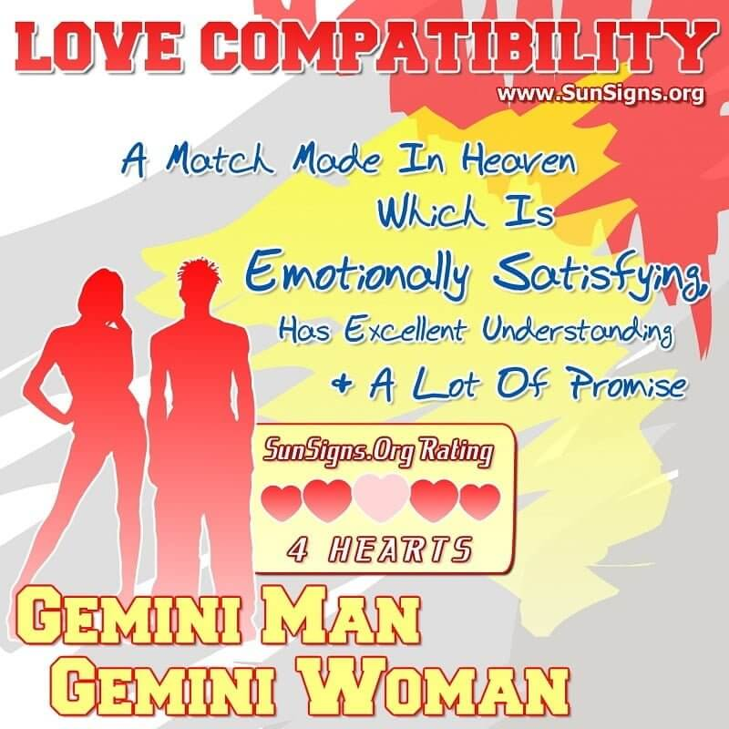 gemini man gemini woman love compatibility