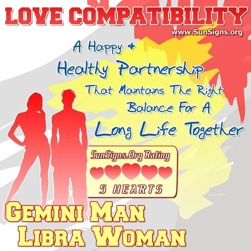 gemini man libra woman love compatibility