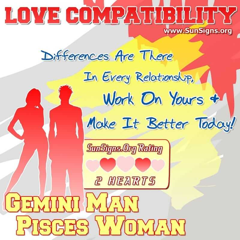 gemini pisces love match compatibility Pisces love and compatibility horoscope forecasts for the year 2018 include relationships, singles, romance and love readings for pisces compatible match worst aries love match for 2018: libra, gemini sagittarius if a second marriage or partner is in your thoughts then now would be the time for it there would be many.
