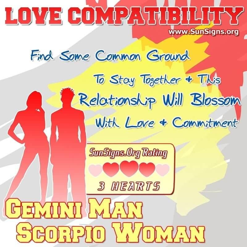 gemini man scorpio woman love compatibility