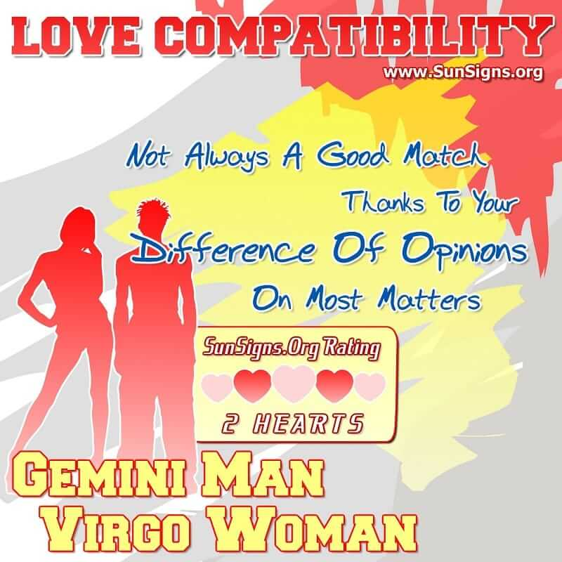 gemini man virgo woman love compatibility
