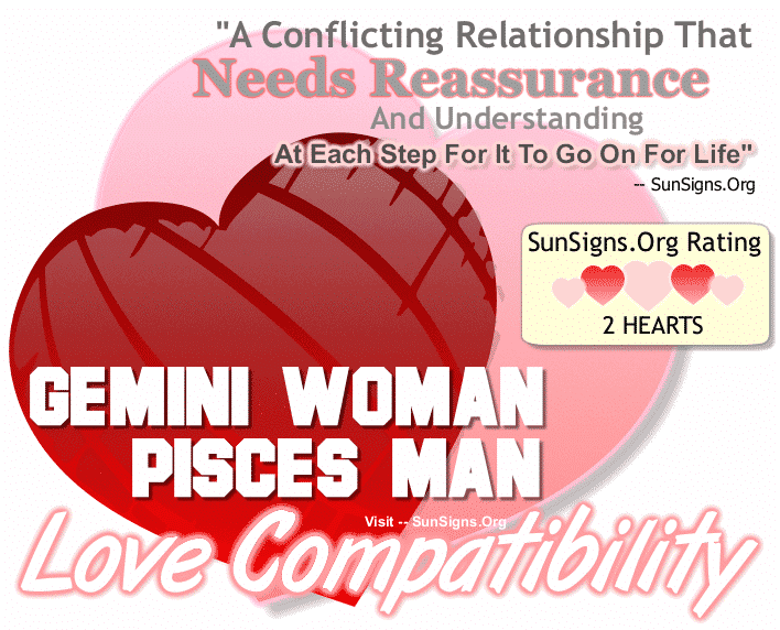 Gemini Woman Pisces Man Love Compatibility