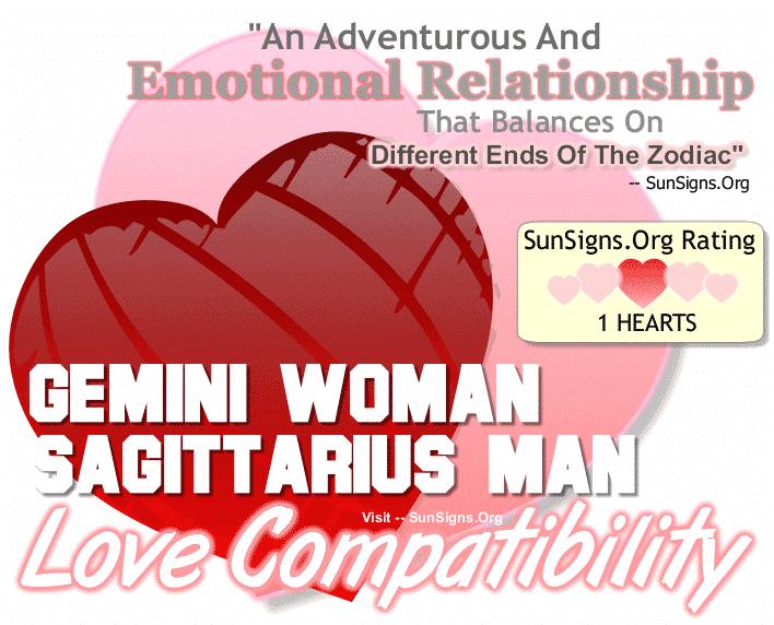 Gemini Woman Sagittarius Man Love Compatibility