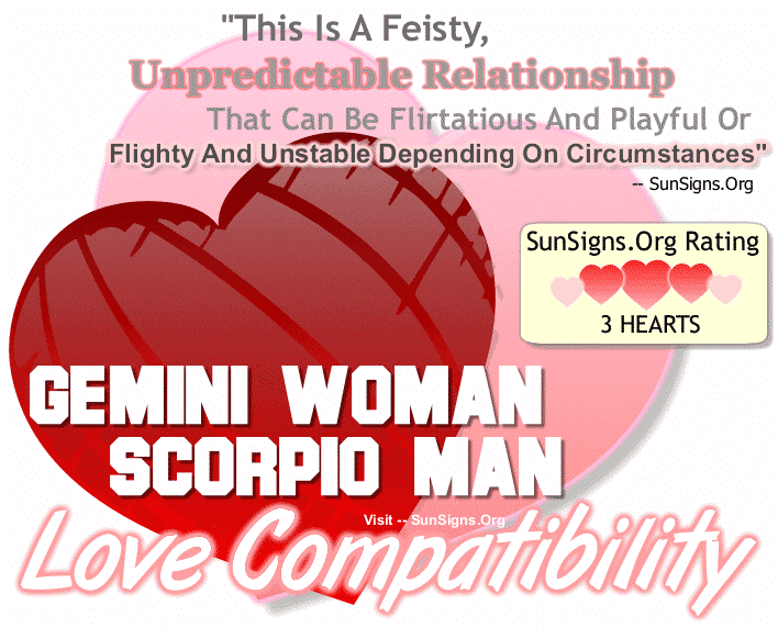 Gemini Woman Scorpio Man Love Compatibility