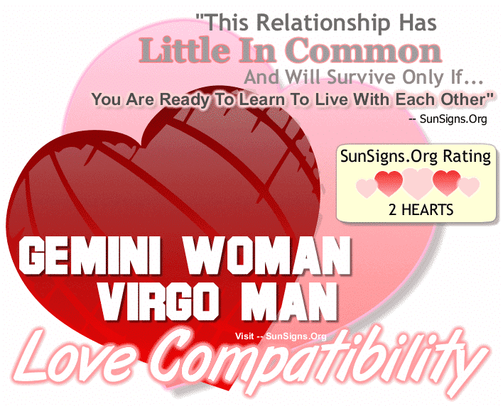 Gemini Woman Virgo Man Love Compatibility