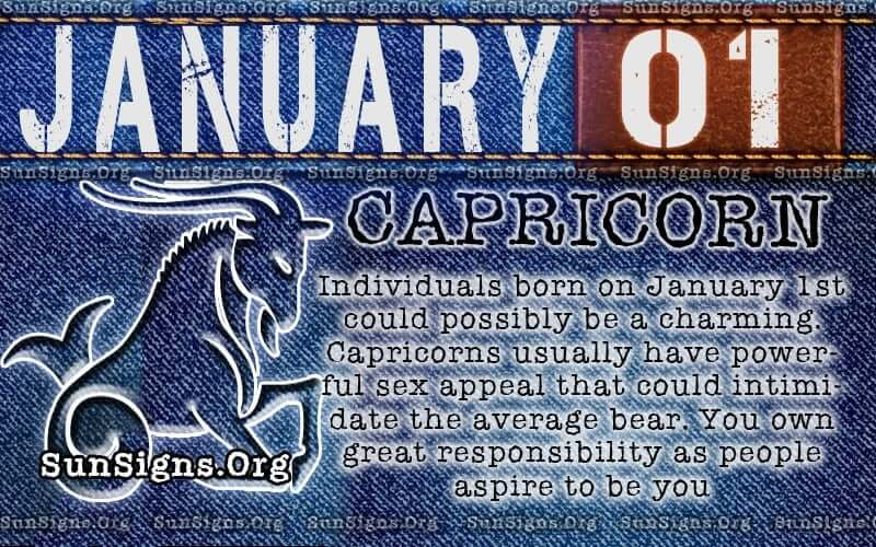 Zodiac Sign Personality Born on January 1