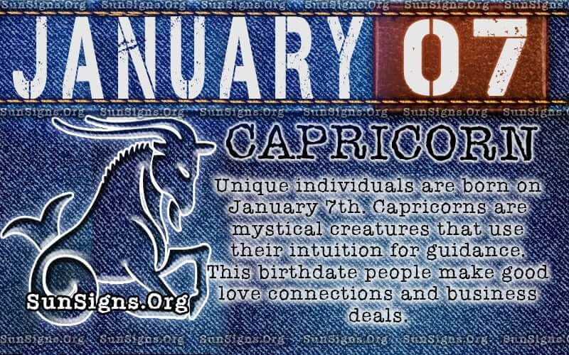 january 7 capricorn birthday calendar