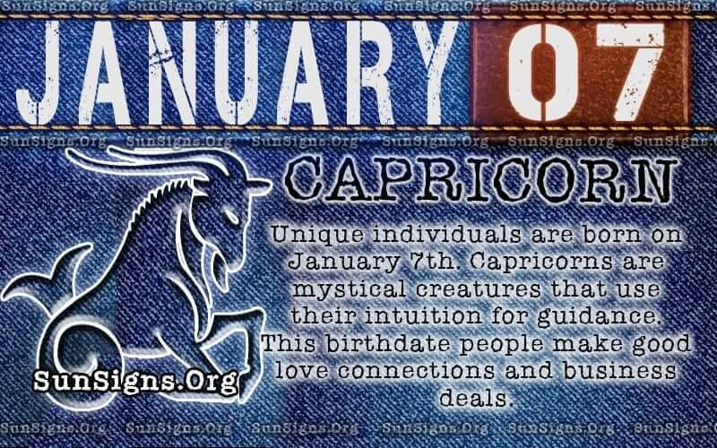 january 7 capricorn birthday calendar