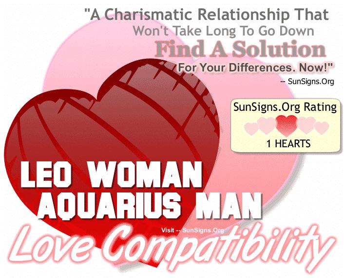 Leo Woman Aquarius Man Love Compatibility