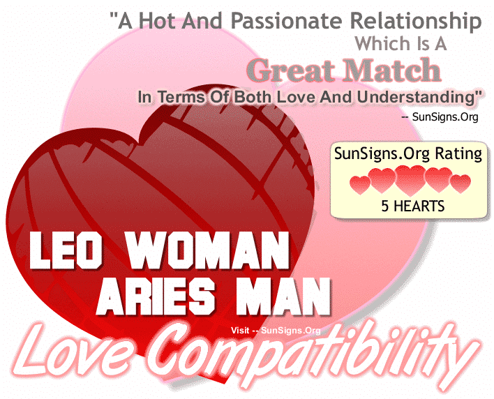 Leo Woman And Aries Man Love Compatibility