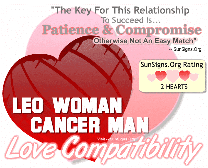 Leo Woman Cancer Man Love Compatibility