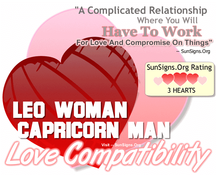 Leo Woman Capricorn Man Love Compatibility