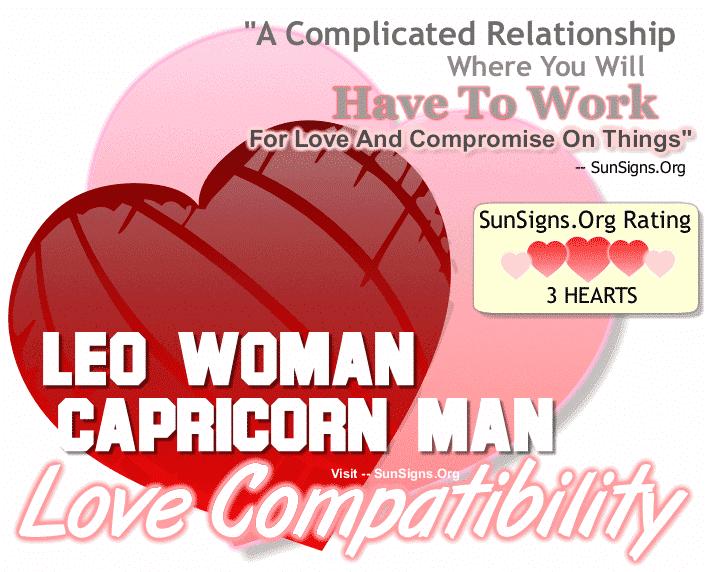 Leo Woman Capricorn Man Love Compatibility