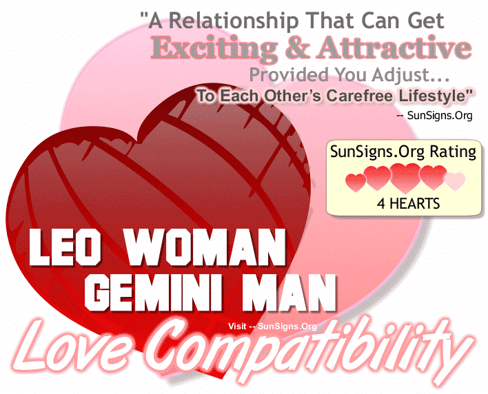 Leo Woman Gemini Man Love Compatibility