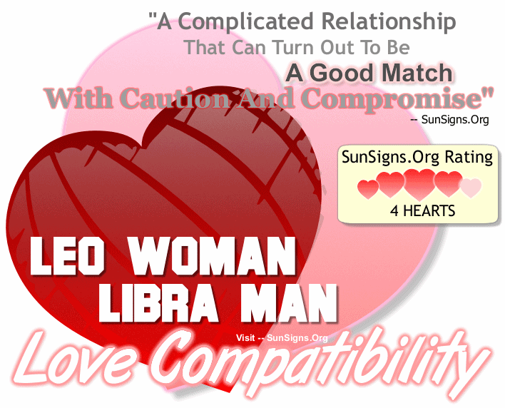 Leo Woman Libra Man Love Compatibility