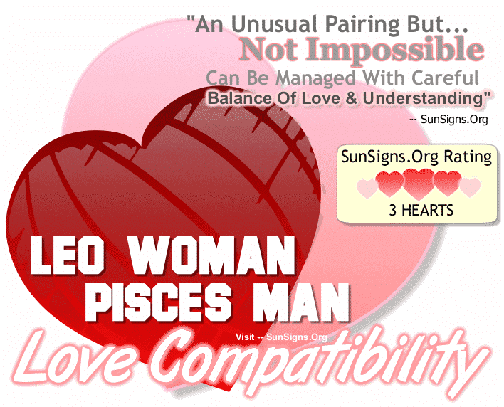 leo male and pisces female relationship