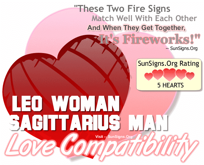 Leo Woman Sagittarius Man Love Compatibility