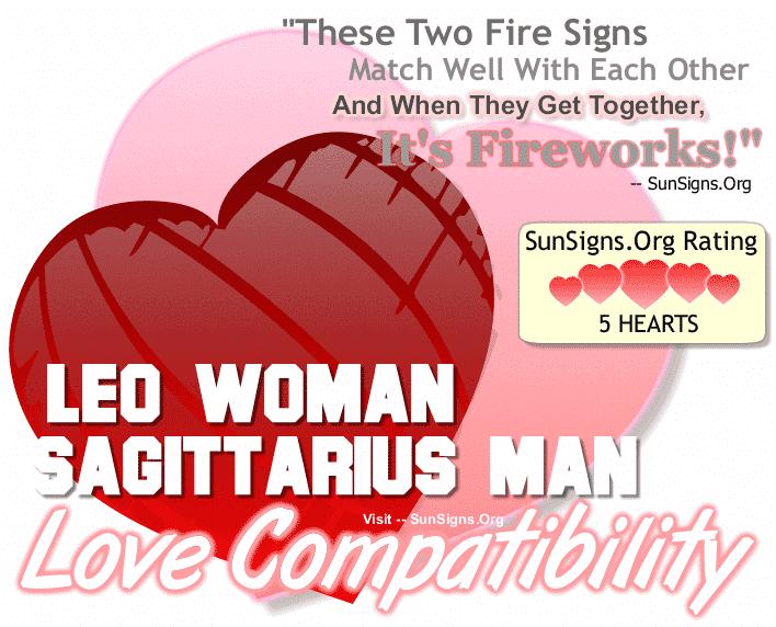 Leo Woman Sagittarius Man Love Compatibility