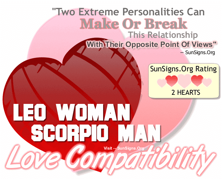 Leo Woman Scorpio Man Love Compatibility