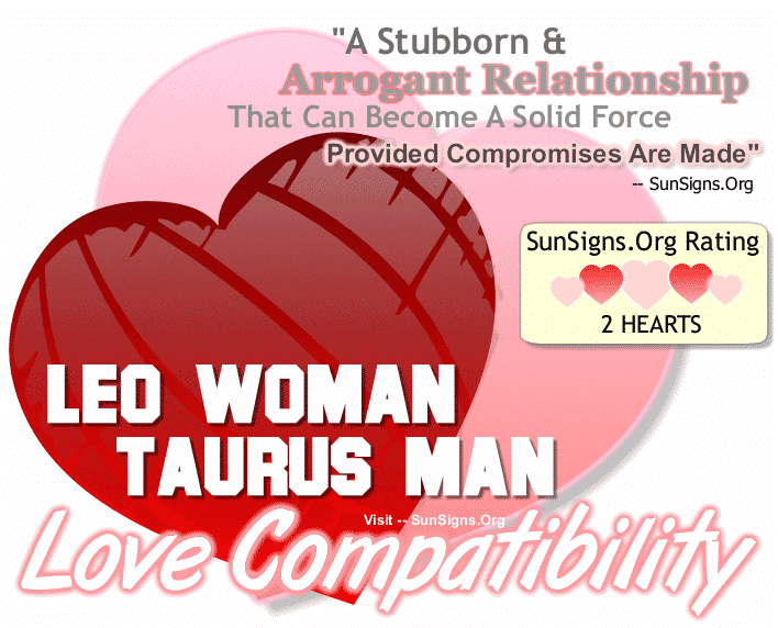 Leo Woman Taurus Man Love Compatibility