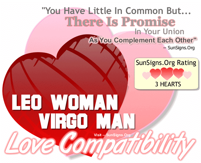 Leo Woman Virgo Man Love Compatibility