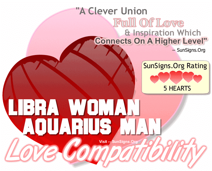 Libra Woman and Aquarius Man Love Compatibility