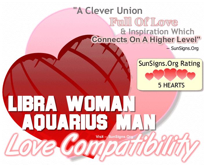 Libra Woman and Aquarius Man Love Compatibility