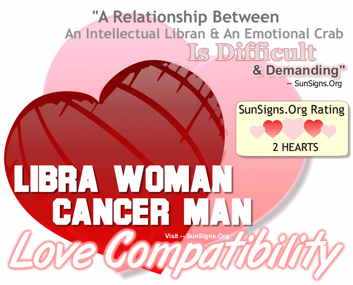 Libra Woman Cancer Man Love Compatibility