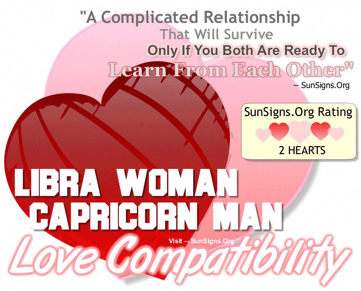 Libra Woman and Capricorn Man Love Compatibility