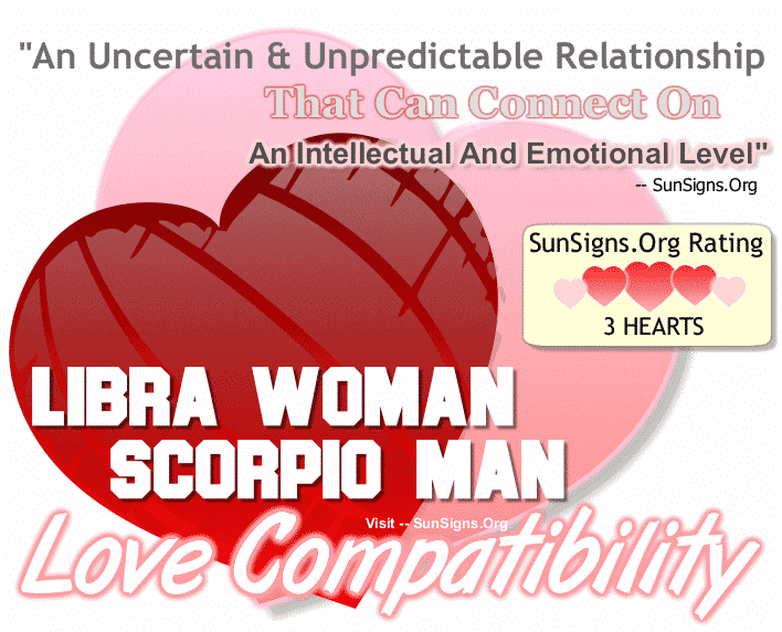 Libra Woman Scorpio Man Love Compatibility