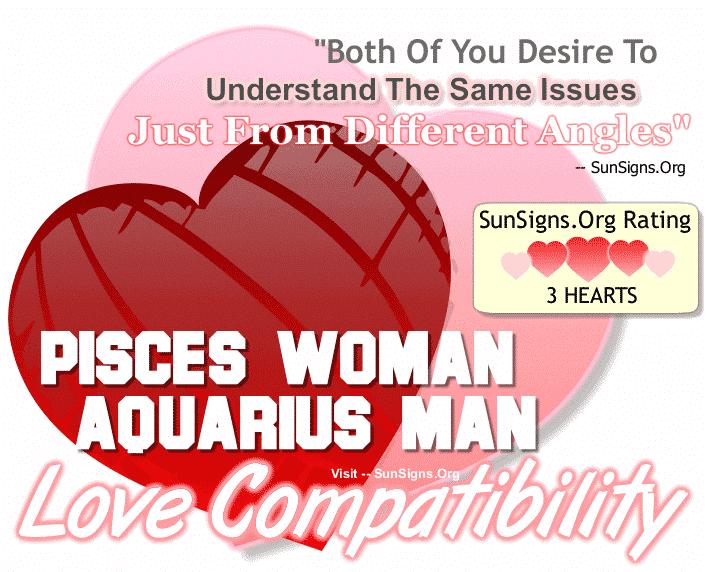 Pisces Woman Aquarius Man Love Compatibility