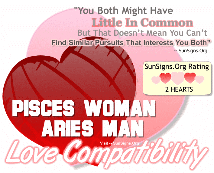 Pisces Woman Aries Man Love Compatibility