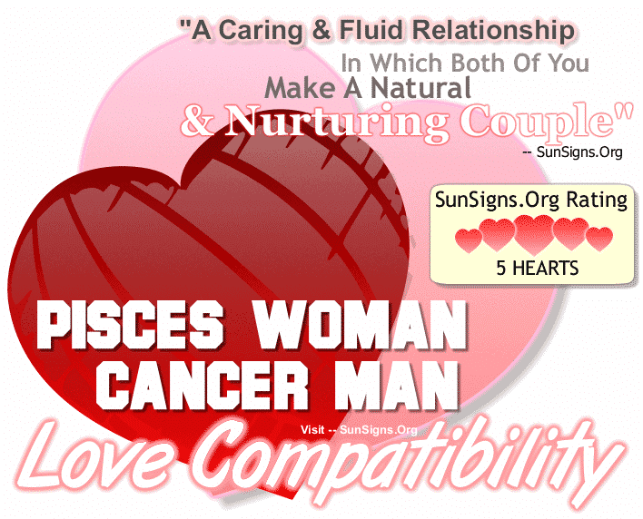 love matches for pisces and cancer Cancer pisces compatibility and cancer pisces horoscope - astrological compatibility and love match for cancer woman & pisces man, cancer man & pisces woman read how the stars influence your sexual life, sex, dating, relationship, and love horoscopes.
