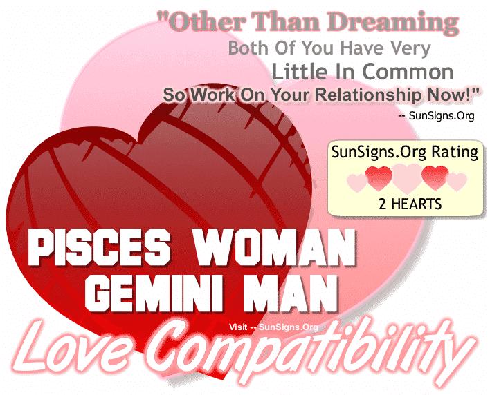 Pisces Woman Gemini Man Love Compatibility