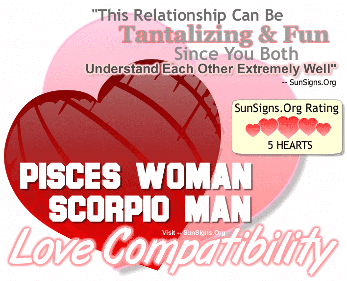 Pisces Woman Scorpio Man Love Compatibility