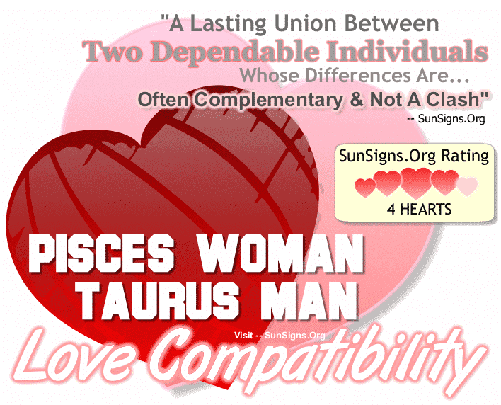 Pisces Woman Taurus Man Love Compatibility