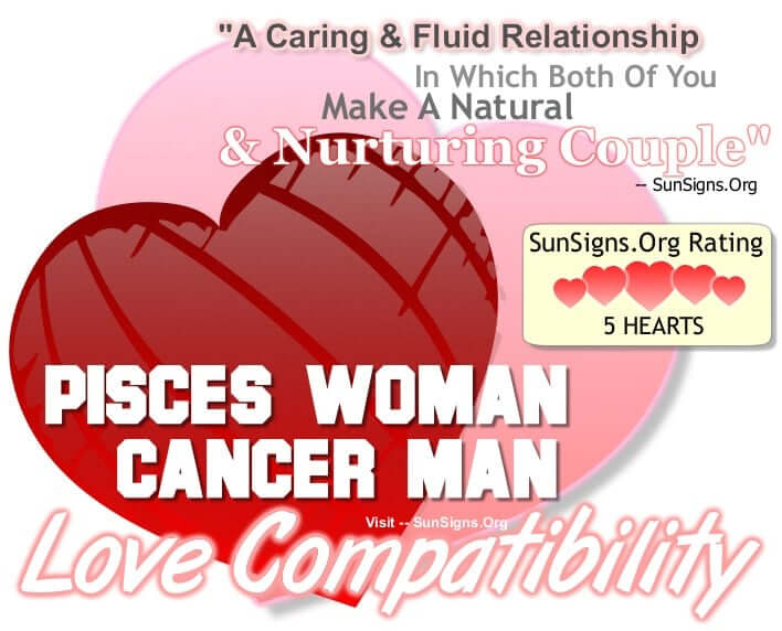 Pisces Woman And Cancer Man Love Compatibility