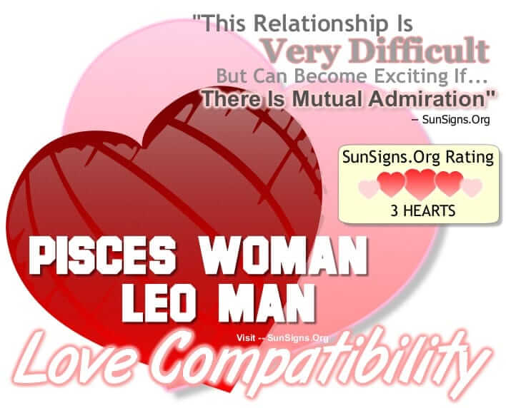 Is leo man and pisces woman compatible