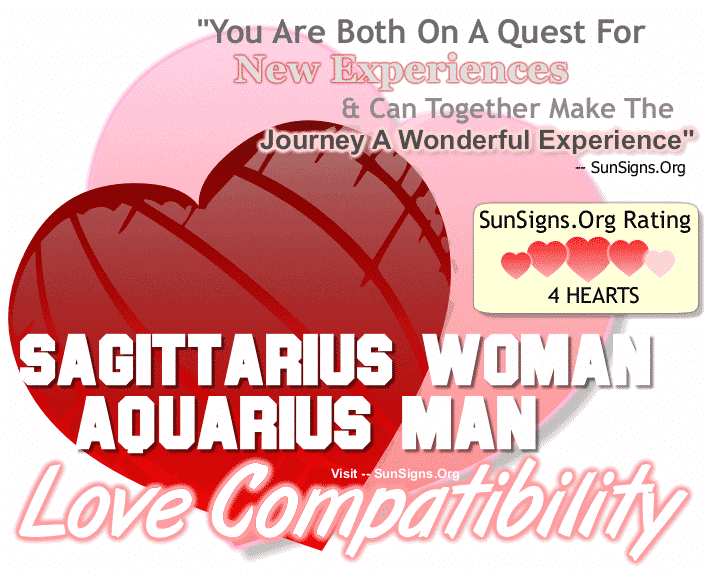 Sagittarius Woman Aquarius Man Love Compatibility