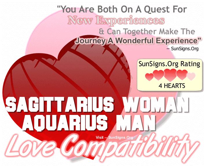 Sagittarius Woman Aquarius Man Love Compatibility