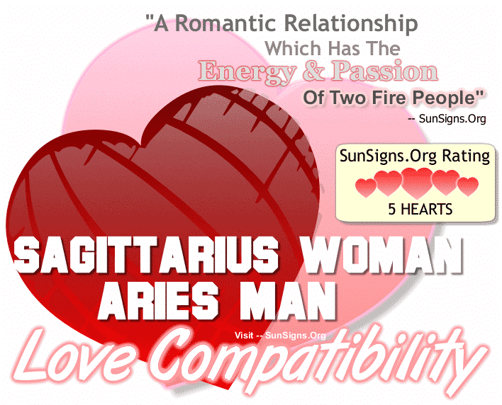 Sagittarius Woman Aries Man Love Compatibility