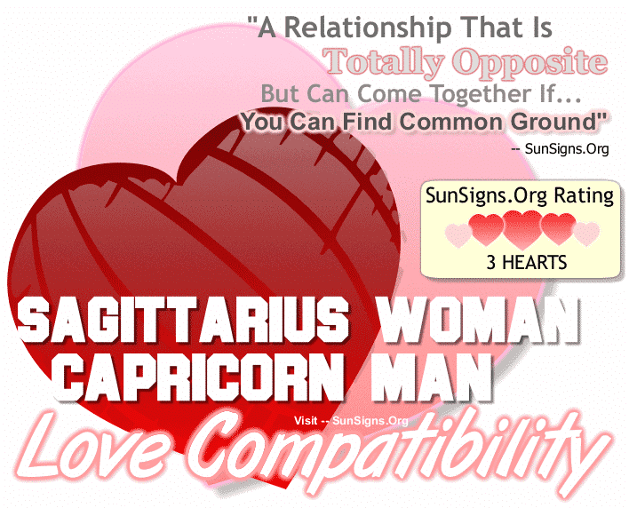 Sagittarius Woman Capricorn Man Love Compatibility