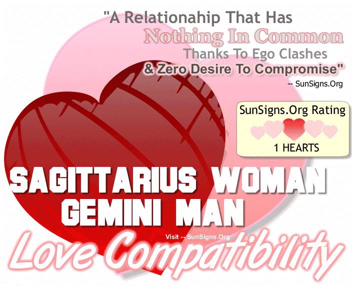Sagittarius Woman Gemini Man Love Compatibility