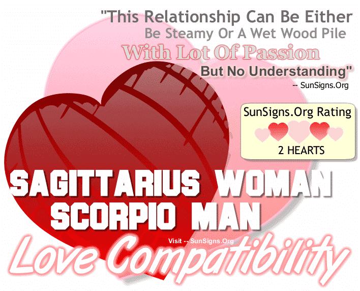 Sagittarius Woman Scorpio Man Love Compatibility