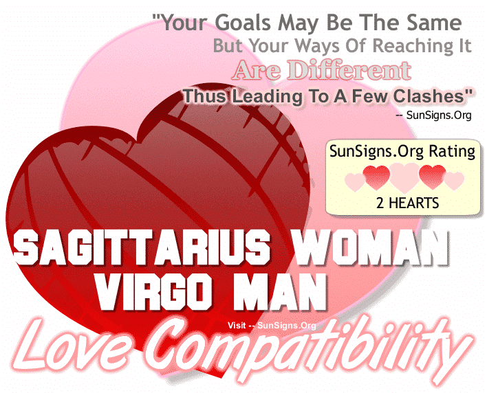 Sagittarius Woman Virgo Man Love Compatibility