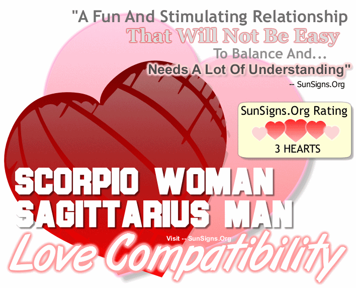 Scorpio Woman Sagittarius Man Love Compatibility