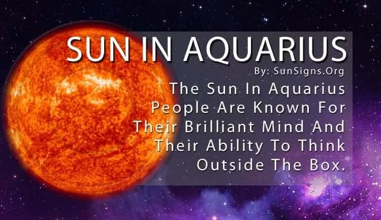 The Sun In Aquarius